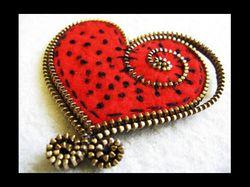 Zipper-heart