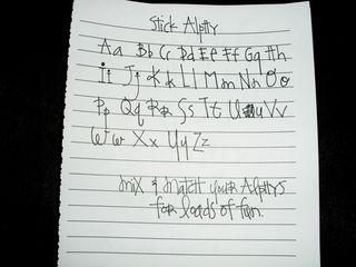 Stick alphy2